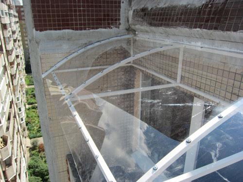 Крыша на балкон - okner - пластиковые окна.