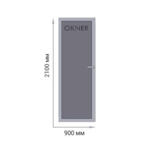 Алюминиевая одностворчатая дверь