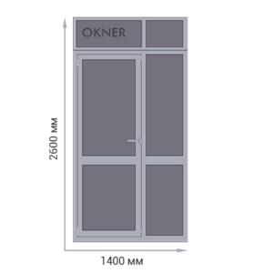 Дверь алюминиевая одностворчатая (входная группа)