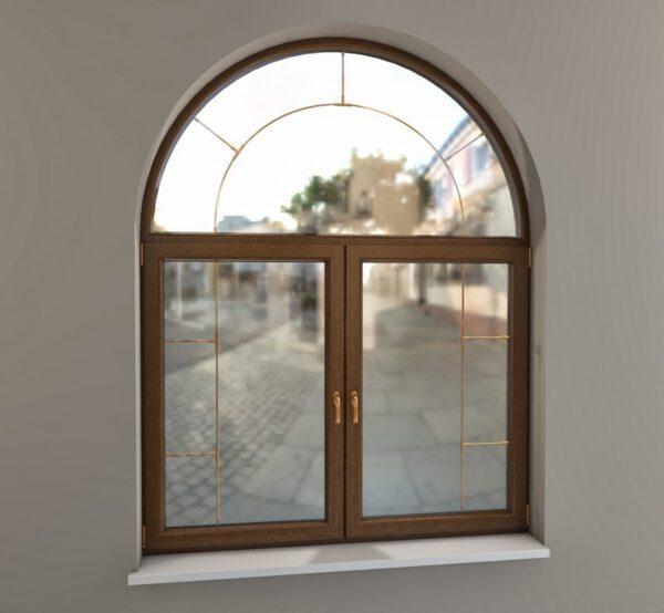 Красивое арочное окно OKNER
