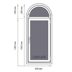 Арочное окно OKNER