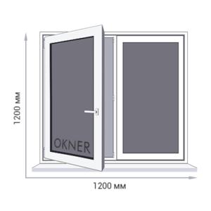 Окно для дачи 1200 на 1200 мм