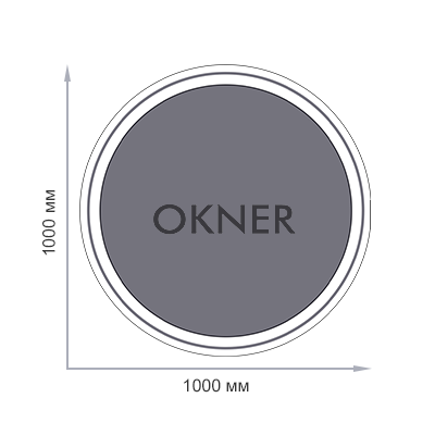 Круглое окно диаметром 1000 мм