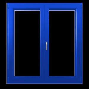 Синие пластиковые окна