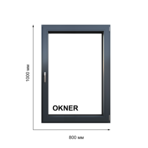 Окно цвет Антрацит размером 1000х800 мм