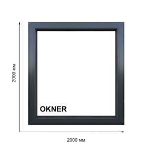 Окно цвет Антрацит размером 2000х2000 мм
