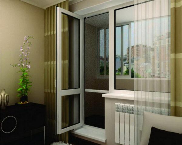 Балконный блок с дверью